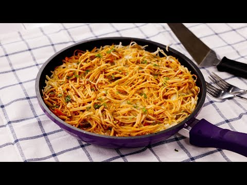noodles-lasagna-recipe-in-a-pan---vegetable-lasagne-without-oven-from-scratch---cookingshooking