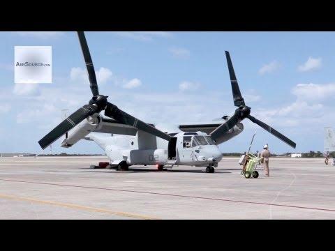 U.S. Marins V-22 Ospreys Arrive at Marine Corps Air Station Futenma, Okinawa