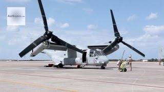 U.S. Marins V-22 Ospreys Arrive at Marine Corps Air Station Futenma, Okinawa