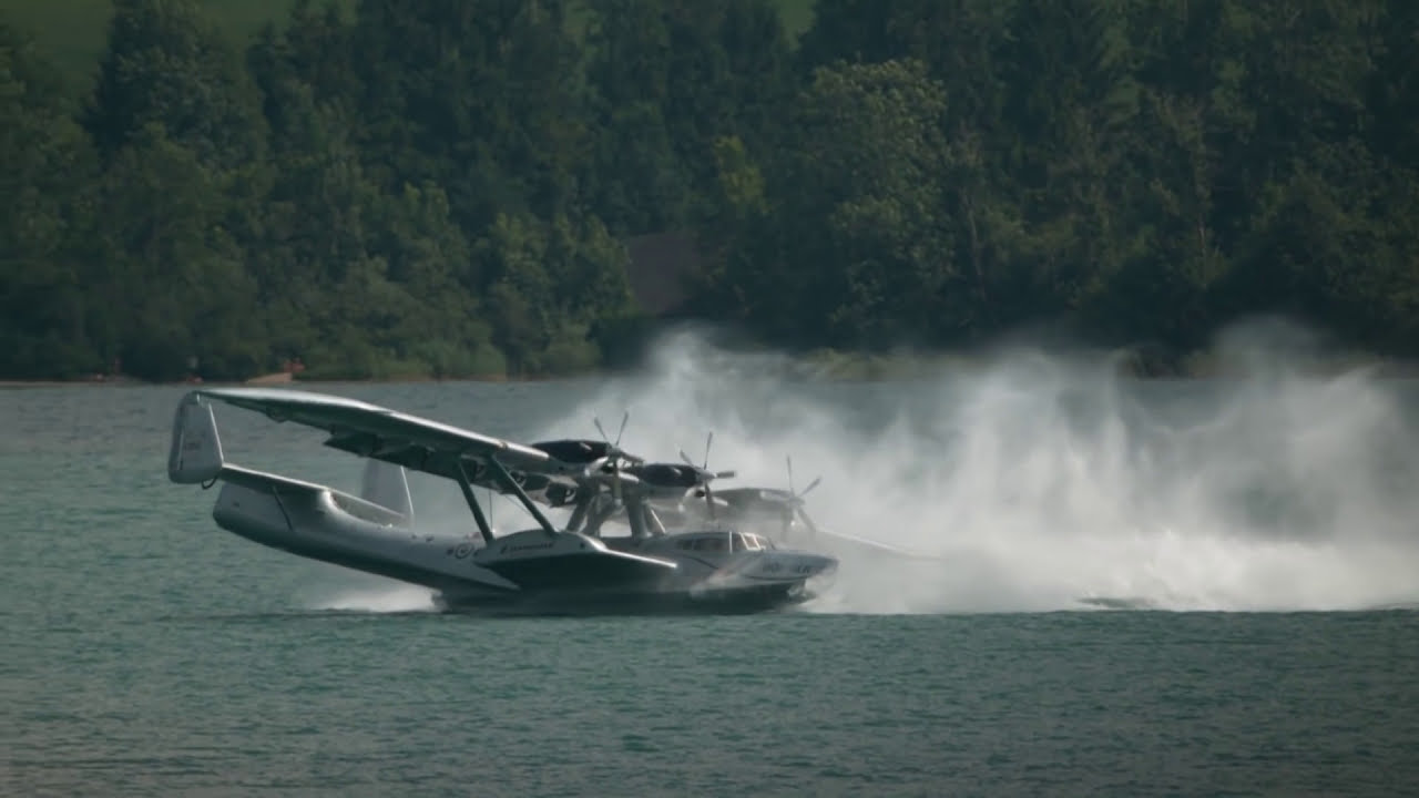 Watch the Last Dornier Do24 Flying Boat Spinout in