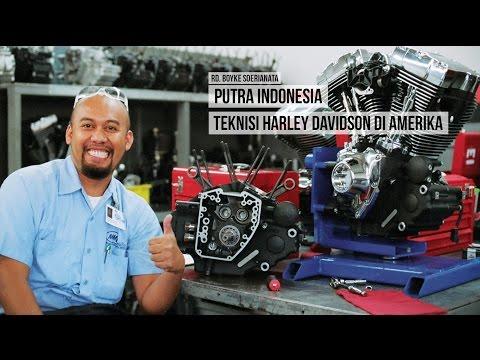 Boyke Soerianata, Putra Indonesia Teknisi Harley Davidson di Amerika.