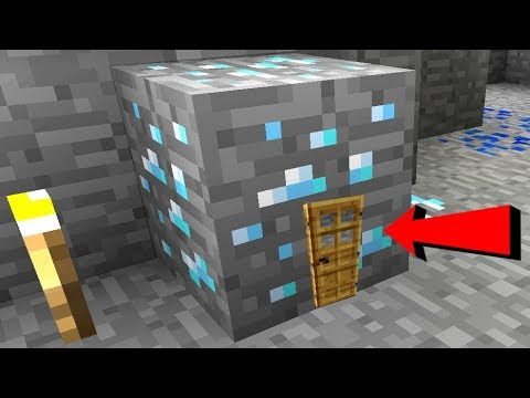 Minecraft: DIAMOND ORE HOUSE!!! (MINING INSIDE DIAMONDS!)