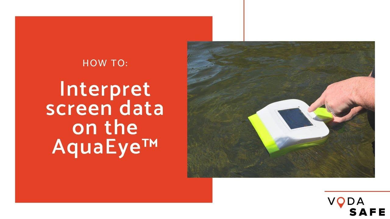Interpreting screen data on the AquaEye