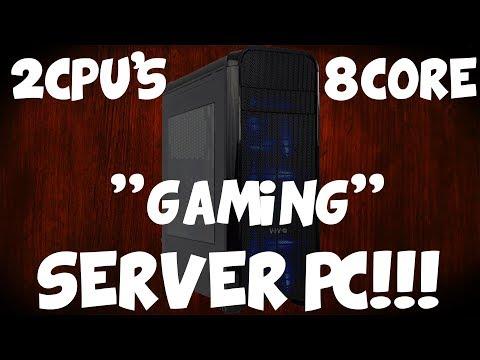 "Building An 8 Core ""Gaming"" Server PC!! 2 Xeon CPU's"