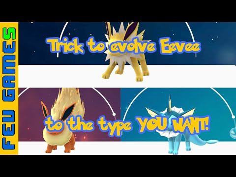 How To Evolve Eevee To The Type YOU WANT In Pokemon GO!