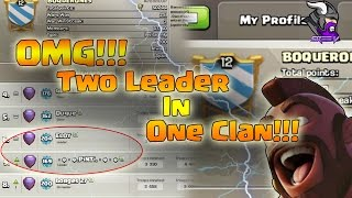 Weird Clan in Clash of Clans!! Clan with 2 Leaders!! Clash of Clans Glitch!!
