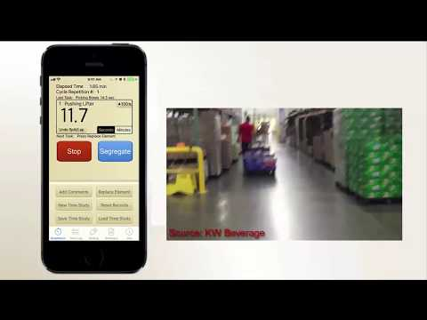 Production Time Study App with Video Example