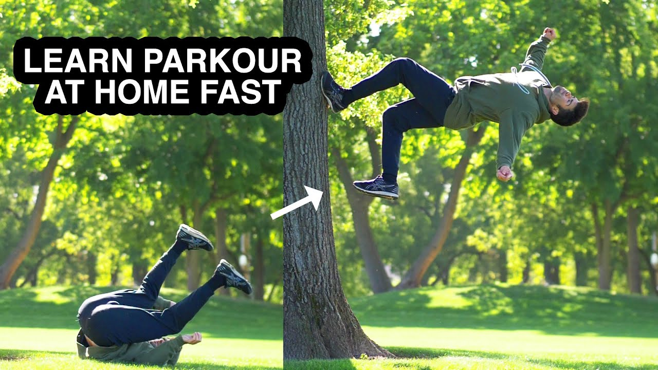 Learn Awesome Parkour 2-Step Flip Easy – Turn Back Roll into Air Roll off Wall