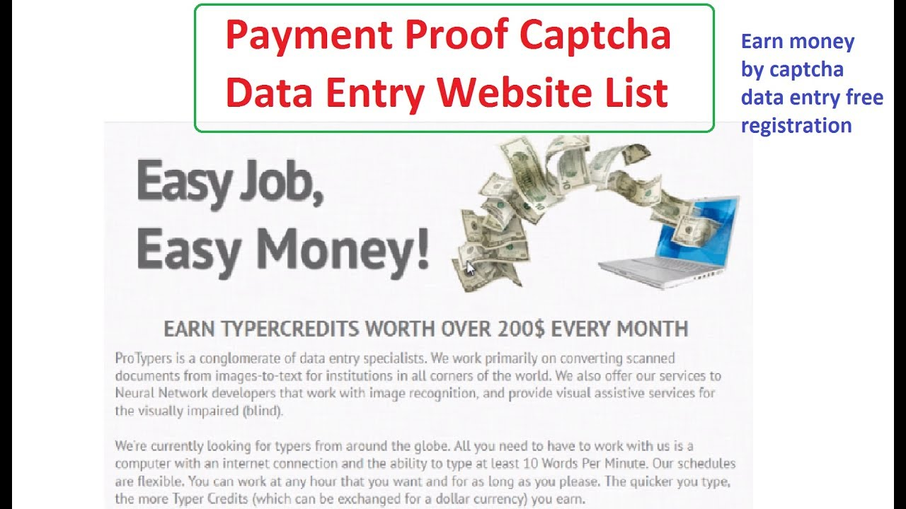 Payment proof captcha data entry jobs | Earn $2 per day by data entry |  easy earn money online