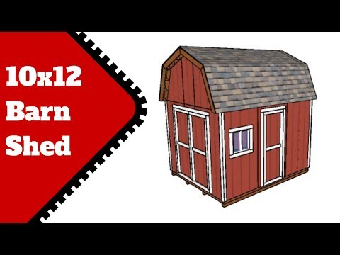 10x12 Shed Plans - DIY Gambrel Shed