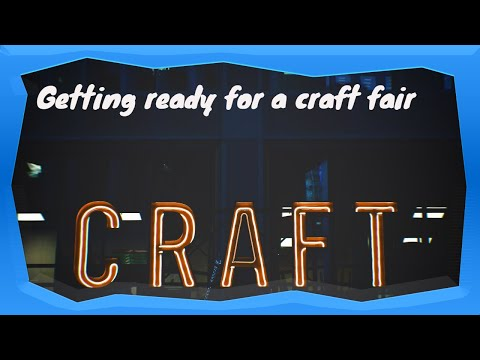 Vlog 22 Working in my warehouse planning for a craft fair- Craft fair booth setup