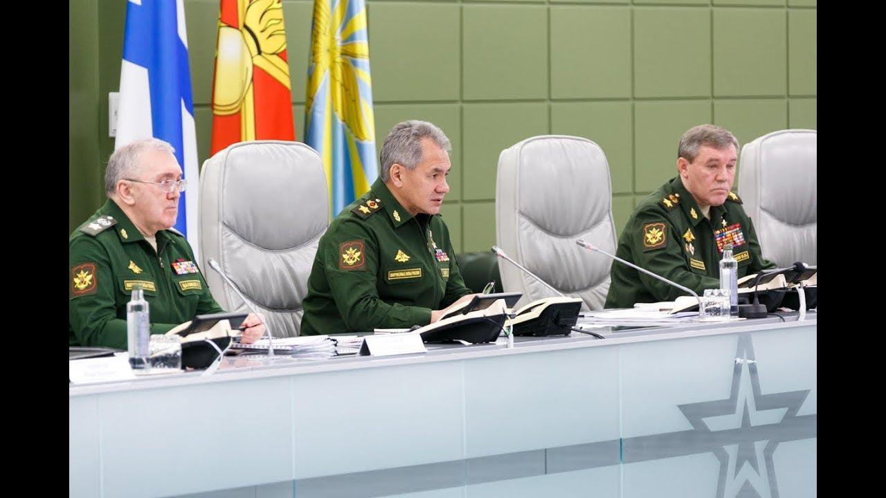 Селекторное совещание под руководством Министра обороны РФ С. Шойгу (26.12.2017)