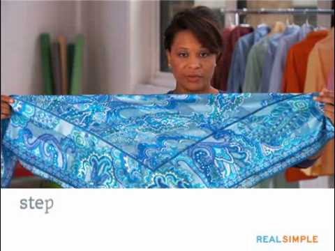 How to tie a silk scarf real simple youtube how to tie a silk scarf real simple ccuart Images