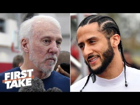 Gregg Popovich calls Colin Kaepernick's protest 'very patriotic' | First Take