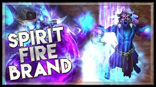 Spirit Fire Brand Skin - League of Legends LoL Brand Skin