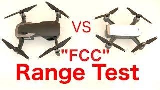 """DJI Mavic Air VS Spark - WIFI Range Test """"FCC"""""""