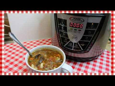 Hobo Soup ~ Hamburger Macaroni Soup Recipe  ~ Power Pressure Cooker XL Review ~ Noreen's Kitchen
