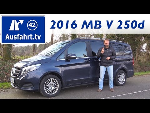 2016 Mercedes-Benz V 250d Avantgarde - Fahrbericht der Probefahrt, Test, Review