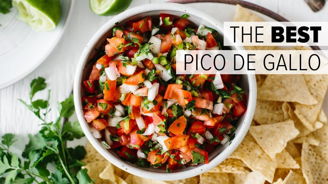 Pico De Gallo How To Make Authentic Mexican Salsa Recipe Youtube