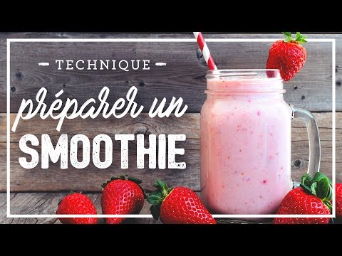 Recette smoothie pomme framboise