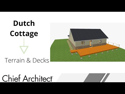 Dutch Cottage - Terrain, Site plan & Deck