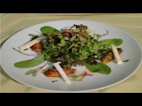 Curso Montagem e Decoração de Pratos - Food Styling - Salada Verde Com Queijo Brie e Figo Grelhado