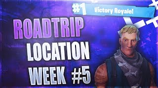 Secret Week 5 Battlestar location! (Roadtrip #5) Fortnite Week 5 Challenges Season 5