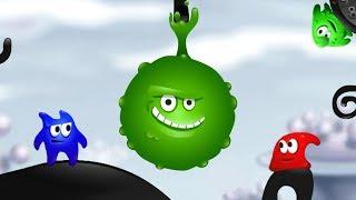 - Приключения красочных СЛЮНТИКОВ в Мире красок. Paint World мультик игра для детей