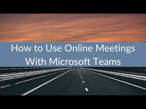 How to Use Online Meetings With Microsoft Teams from YouTube · Duration:  8 minutes 27 seconds