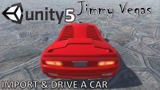 Unity 5 Mini Tutorial - Import & Drive A Car - Beginners