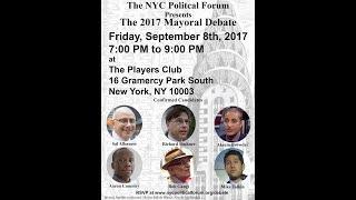 2017 NYC Mayoral Debate