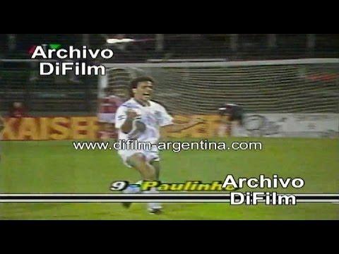 01/10/1991 - AA Argentino Junior 1x2 Santos - Gols Paulinho e Pedro Paulo