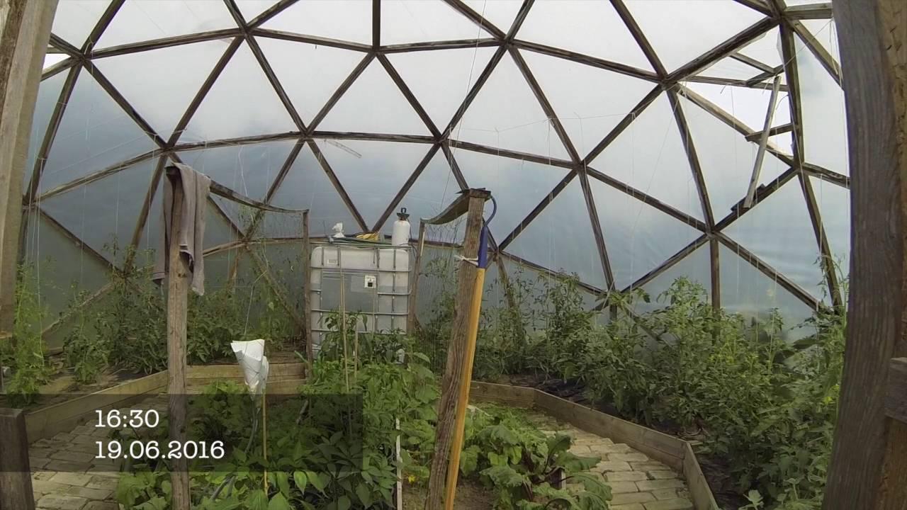 Geodätische Kuppel Selber Bauen gartenjahr start 2016 geodätische kuppel - youtube