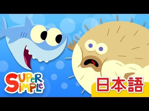 10ぴきのサカナ「10 Little Fishies」 | こどものうた |  Super Simple 日本語