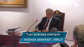 La videograbación fue difundida en las redes sociales del gobierno federal. El presidente López Obrador agradeció el apoyo que recibió del ahora exsecretario de Seguridad