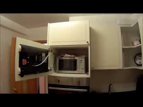 Обычный телевизор, встроенный в фасад кухни!! ( Кухня ИКЕА )
