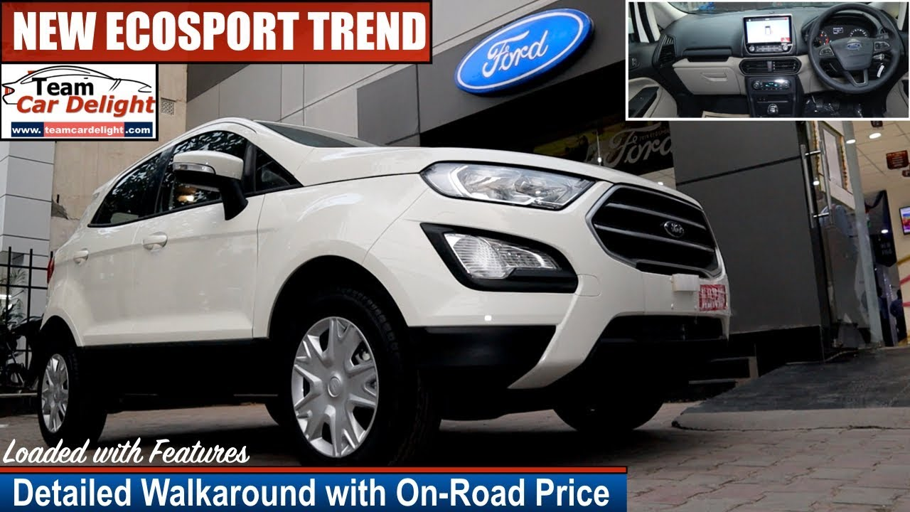 New Ford Ecosport Trend Detailed Review with On Road Price,Interior,Features | Ecosport Trend
