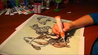 Учимся рисовать. Роспись по стеклу витражными красками. Подарок маме. Поделки с детьми!(ДРУЗЬЯ, ПРИВЕТСТВУЕМ ВАС! Рисование по стеклу - это очень увлекательное и творческое занятие для детей..., 2015-04-11T06:12:45.000Z)
