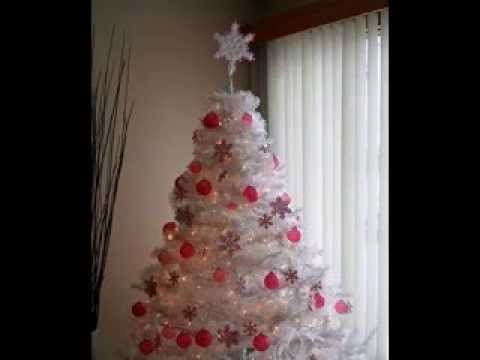 White christmas tree decor ideas - YouTube