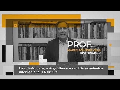 Live: Bolsonaro, a Argentina e o cenário econômico internacional 14/08/19