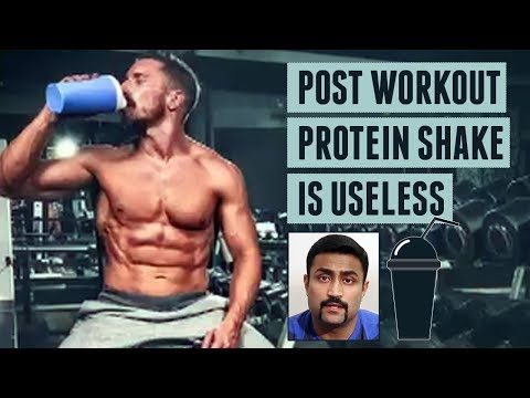 POST WORKOUT PROTEIN SHAKE IS USELESS: ANABOLIC WINDOW IS A MYTH