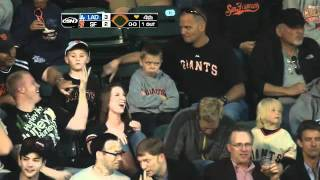Pouting kid gets second chance at foul ball