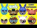 Five Nights at Freddy's FNAF RADZ TWISTZ Mix N' Match Top Candy Dispensers