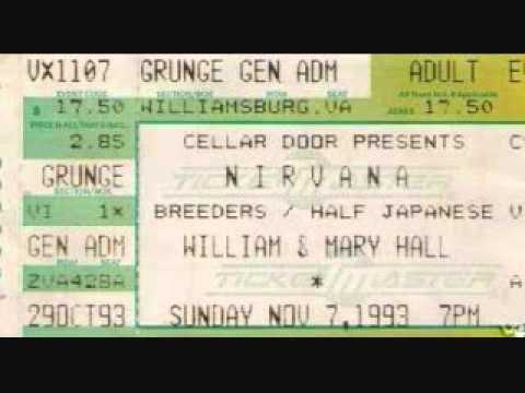 Nirvana  Lithium  110793 William and Mary Hall, Williamsburg, VA
