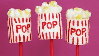 POPCORN MARSHMALLOW POP - Circus, Movie & Theatre Party  - Cake Pop Treat