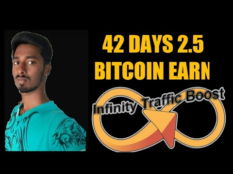 INFINITY TRAFFIC BOOST ( BITCOIN EARN) Daily 100 Ads View  42 Days 2.5 Btc Earn