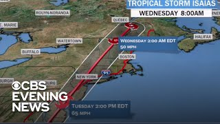 Tracking Tropical Storm Isaias as millions could face flooding rains, high winds