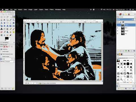 How to isolate colors In GIMP for screen printing thumbnail