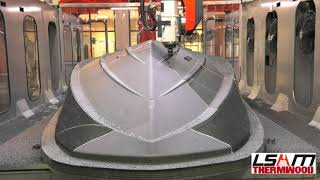 LSAM 3D Printed Marine Boat Hull Pattern