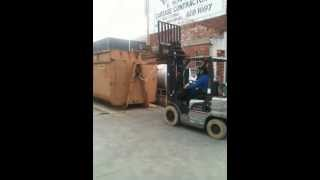 How NOT to forklift... FAIL